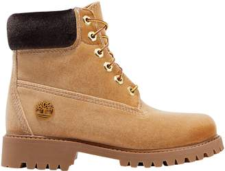 Timberland Off WhiteTM Off-white +timberland Embossed Velvet Ankle Boots