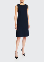 Lafayette 148 New York Morganna Nouveau Crepe Sleeveless Dress