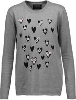 Markus Lupfer Natalie embellished printed cotton sweater