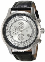 Thumbnail for your product : Oceanaut Men's Actuator Stainless Steel Quartz Leather Strap Black 24 Casual Watch (Model: OC0310)