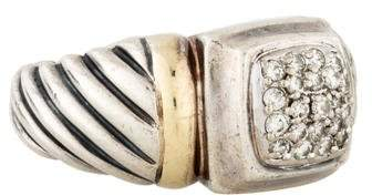 David Yurman Diamond Sculpted Cable Cocktail Ring