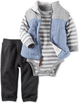 Carter's 3 Pc. Vest, Striped Bodysuit & Pants Set, Baby Boys (0-24 months)