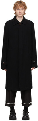Undercover Black and Navy Wool Coat