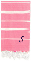 Linum Home Textiles Lucky Pestemal Towel, Pretty Pink, Chancery Purple Font, S