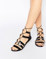 Call it SPRING Saberrah Ghillie Laced Flat Sandal