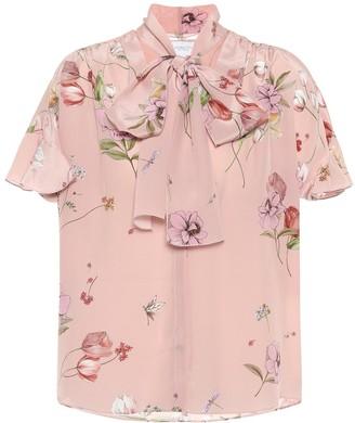 Giambattista Valli Floral silk crepe blouse