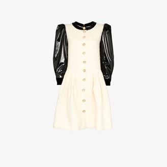 Gucci Vinyl Sleeve Flared Mini Dress