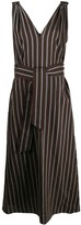 Brunello Cucinelli striped belted day dress