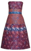 Mary Katrantzou Kelly jacquard strapless dress