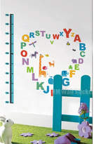 Alphabets and Cute Animals Kids Growth Chart Kids Removable Wall Sticker