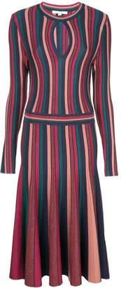 Jonathan Simkhai Striped Pleated Detail Dress