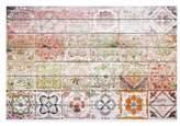 Parvez Taj Settat 2 45-Inch x 30-Inch White Wood Wall Art