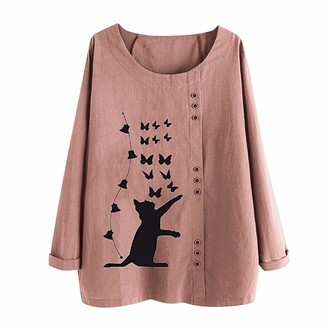 Ttlove Women TTlove_Women New Cotton Linen Tunic Tee Shirt Jacquard Tops Shirts Casual Lightweight Jacket Outfit