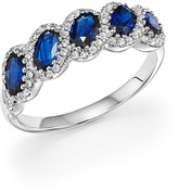 Bloomingdale's Sapphire Oval and Diamond Band in 14K White Gold - 100% Exclusive