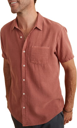 Marine Layer Classic Fit Selvage Short Sleeve Button-Up Shirt