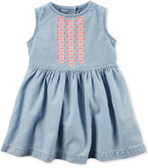 Carter's Embroidered Chambray Dress, Baby Girls (0-24 months)