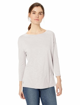 Daily Ritual Amazon Brand Women's Lightweight Lived-In Cotton 3/4-Sleeve Drop-Shoulder Tunic
