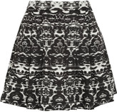 J.Crew Blurred Ikat printed satin-twill mini skirt