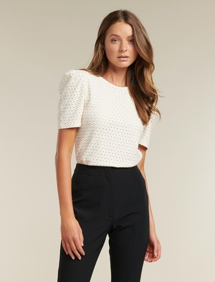 Forever New Leanne Puff Sleeve Top - Cream - xxs