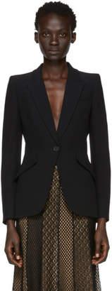 Alexander McQueen Black One Button Blazer