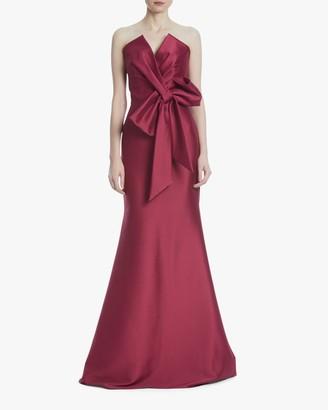 Badgley Mischka Bow Strapless Gown