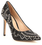 Gianni Bini Zebbi Jeweled Pointy Toe Pumps
