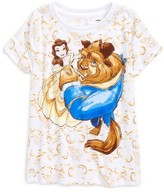 Mighty Fine Toddler Girl's Disney's Beauty & The Beast - Looking Up Graphic Tee