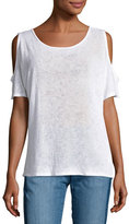 Velvet Yessie Cold-Shoulder Tee, White