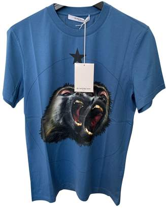 Givenchy Blue Cotton T-shirts