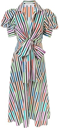 Silvia Tcherassi Striped Colour-Block Shirt Dress