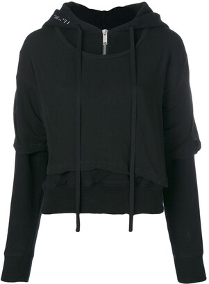 Unravel Project T-shirt layered hoodie