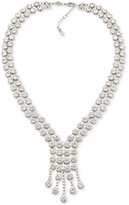 Carolee Silver-Tone Multi-Crystal Collar Necklace