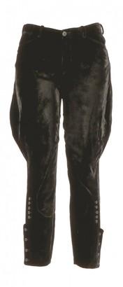 Ralph Lauren Black Velvet Trousers