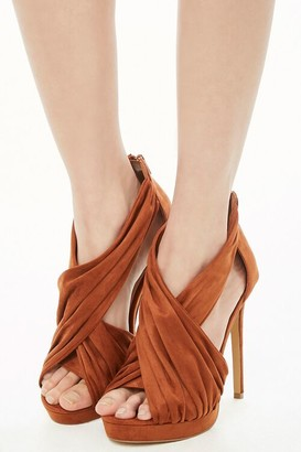 Forever 21 Shoe Republic Pleat Strap Stiletto Heels