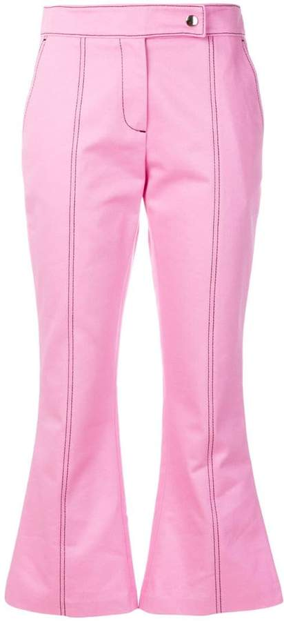 MSGM cropped flare trousers