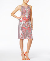 INC International Concepts Petite Printed Shift Dress, Only at Macy's