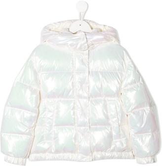 Moncler Enfant Iridescent Effect Padded Jacket