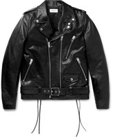 Saint Laurent Slim-Fit Leather Motorcycle Jacket