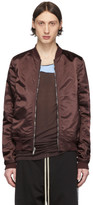 Rick Owens Reversible Burgundy Cropped Flight Bomber Jacket