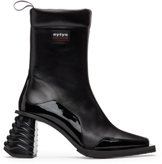 Eytys Black Leather Gaia Boots