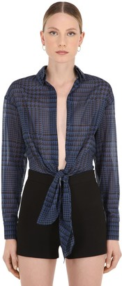 Alexandre Vauthier Stretch Cotton Cropped Shirt
