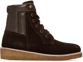 A.P.C. Brown Suede Sia Boots