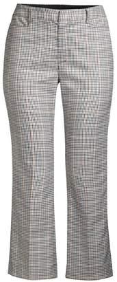 Nanette Lepore Maverick Cropped Check Trousers