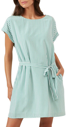 French Connection Stripe Belted Dress