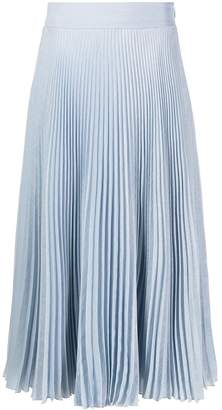 Genny pleated midi skirt