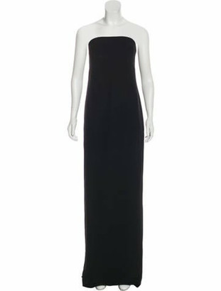 Oscar de la Renta 2018 Strapless Gown Black