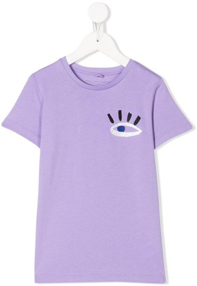 Stella Mccartney Kids embroidered eye T-shirt