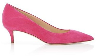 Marion Parke Must Have 45 Hot Pink | Suede Kitten Heel Pump