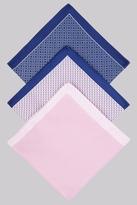 Moss Bros Pink 3 Pack Pocket Squares