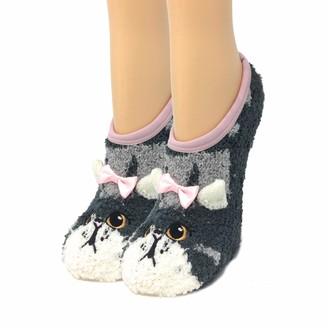 Womens Animal Slipper Socks OoohYeah Fuzzy Plush Cozy Socks Winter Warm Comfy Sock One Size - - One Size